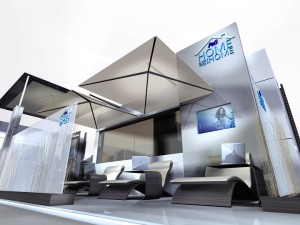 MPG and IGE Group created this stunning new booth to replace an older property for P&G's Home Away from Home at the BlogHer convention.