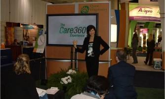 MPG crafted an interactive live presentation for Quest Diagnostics' trade show display.
