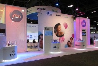 Trade show booth created by MPG for P&G Skin Care brands