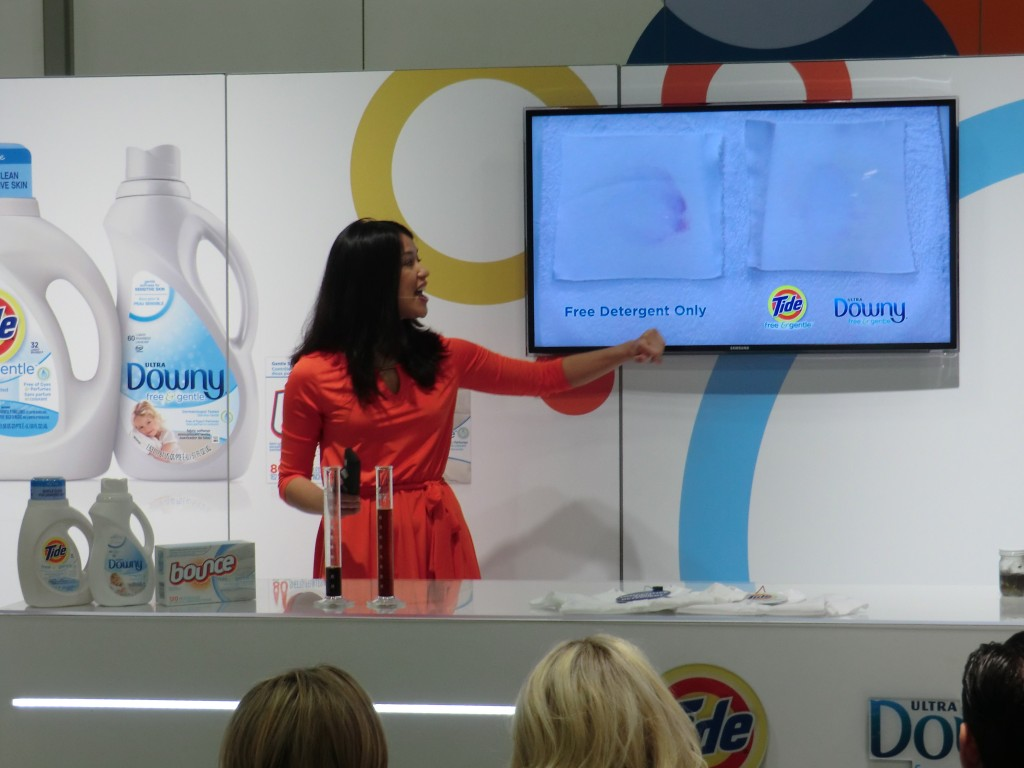 Product Demonstration for P&G fabric and skin care at AAD - By Moening Presentation Group
